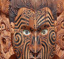 Maori Carving, Rotorua by JanBenjafield