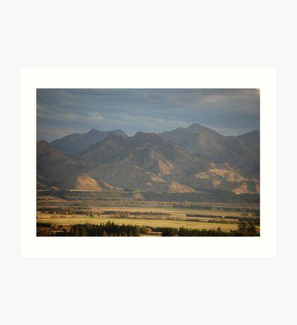 Inner Kiakoura Mountains, New Zealand Art Print
