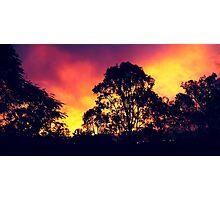 one sunset... Photographic Print