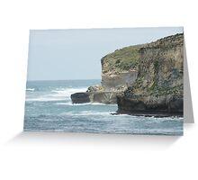 Rugged Cliffs  Greeting Card