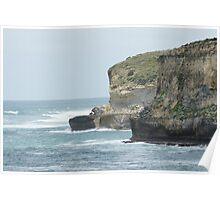 Rugged Cliffs  Poster