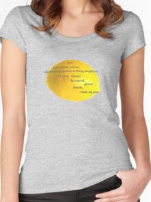 Lemon, i have a crush on you! Women's Fitted Scoop T-Shirt