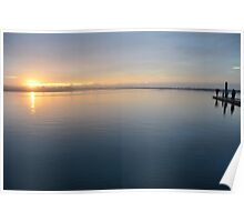 Sunset on the Barwon River, Ocean Grove. Poster