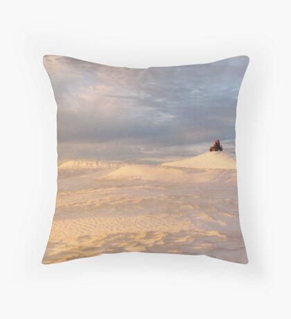 Sand Dune Sunset (Wedge Island) Throw Pillow
