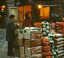 """Time for a Chat"", Covent Garden Market, London, 1973. by David A. L. Davies"