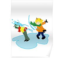 Snowball Fight on Ice Poster