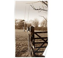 Through The Old Gate - Sepia Poster