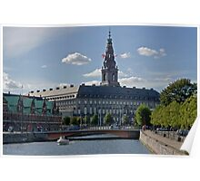 Christiansborg Palace in summer Poster
