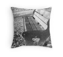 Black And White Winter Seat Throw Pillow