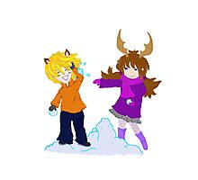 Snowball Fight Photographic Print