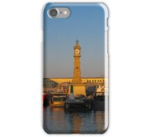 Barcelona-Sunset at the port iPhone Case/Skin