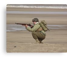Take Aim - WW2 Operation Neptune Re-actment Skegness Beach 2010 Canvas Print