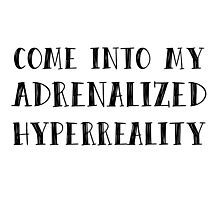COME INTO MY ADRENALIZED HYPERREALITY PLL Photographic Print