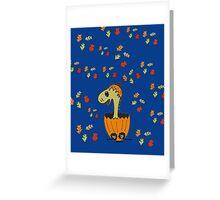 Baby Dino At Halloween Greeting Card