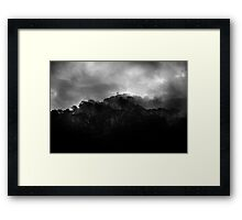 mountains after rain....... Framed Print