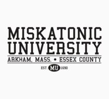 Miskatonic University - Black by wonderjosh