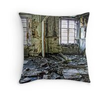 Destroyed by the decades Throw Pillow