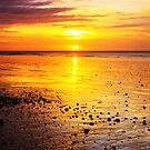 Sunrise On Rustington Beach by Leon Ritchie