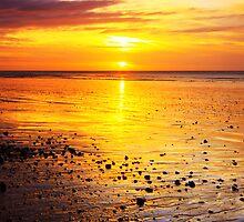 Sunrise On Rustington Beach by Leon Ritchie
