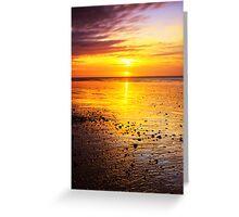 Sunrise On Rustington Beach Greeting Card