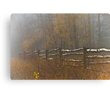 Country Fence ..Misty Style Canvas Print