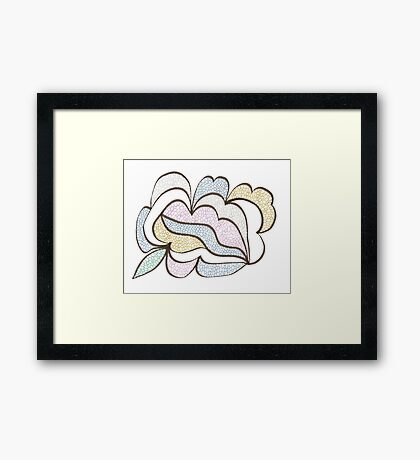 Bubbled Shape Framed Print