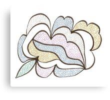 Bubbled Shape Canvas Print