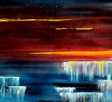 Frozen waterfalls 2 by david hatton
