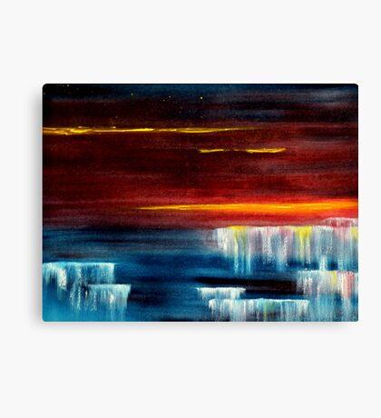 Frozen waterfalls 2 Canvas Print