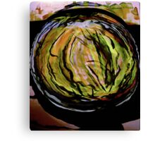 watercolor watermelon..... in a patch Canvas Print