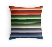 Cardboard Rainbow Throw Pillow
