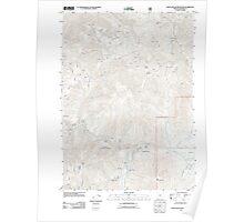 USGS Topo Map Oregon Eight Dollar Mountain 20110713 TM Poster