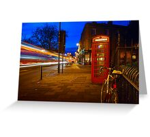 Red Phone Booth - Cambridge, England Greeting Card