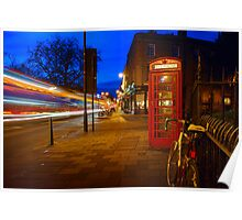 Red Phone Booth - Cambridge, England Poster