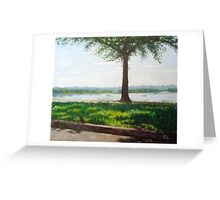 Summer day on the riverside Greeting Card