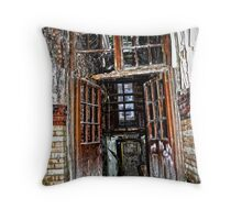 Doorway to the dark side  Throw Pillow