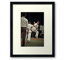 Ushiro Geri Framed Print