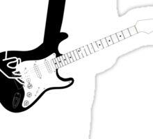guitar in deep spaces Sticker