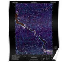 USGS Topo Map Oregon Westfir West 282058 1997 24000 Inverted Poster