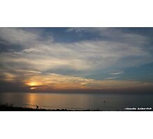 Sunset at sea Photographic Print