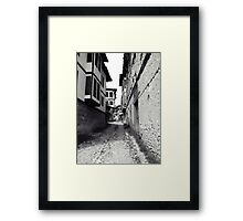 The stone way. Framed Print