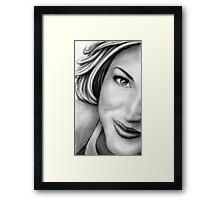 Gillian Anderson Portrait Framed Print