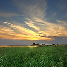 - Sunset over Townlands and Fynnes Meadow by Christopher Cullen