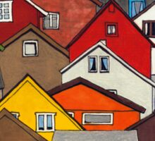Colourful Houses Sticker