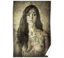 Absent - Nude Suffused Within a Wall Poster