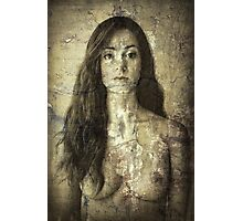 Absent - Nude Suffused Within a Wall Photographic Print
