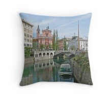 Ljubljana Slovenia Throw Pillow