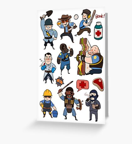 Team Fortress 2 / SD All Class Greeting Card