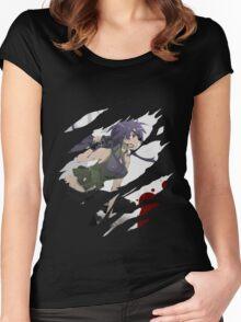 future diary mirai nikki minene uryu anime manga shirt Women's Fitted Scoop T-Shirt