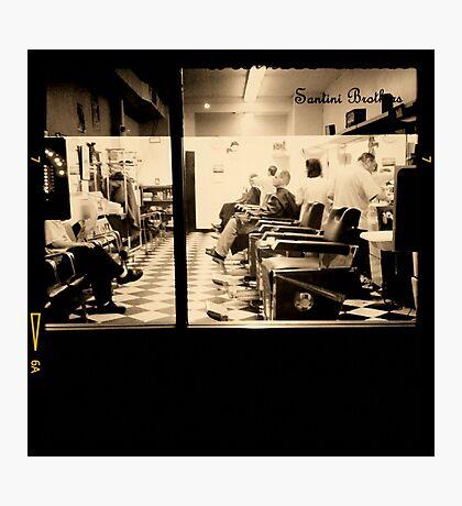 Barber Shop Photographic Print